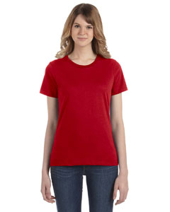 Red Women's Fashion Ringspun T-Shirt