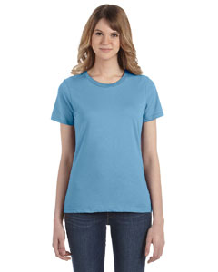 Light Blue Women's Fashion Ringspun T-Shirt