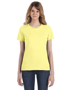 Spring Yellow Women's Fashion Ringspun T-Shirt