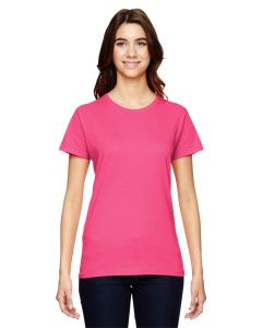 Neon Pink Women's Fashion Ringspun T-Shirt