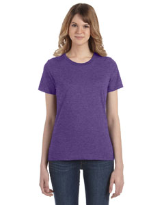 Heather Purple Women's Fashion Ringspun T-Shirt