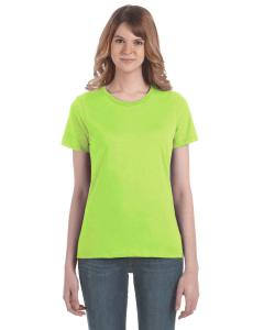 Neon Green Women's Fashion Ringspun T-Shirt