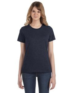Heather Navy Women's Fashion Ringspun T-Shirt