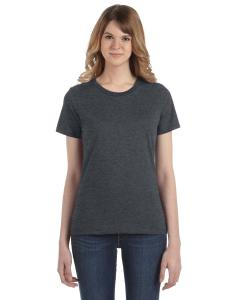 Heather Dk Grey Women's Fashion Ringspun T-Shirt
