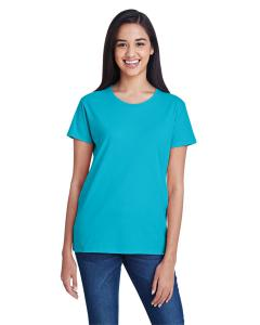 Pool Blue Women's Fashion Ringspun T-Shirt