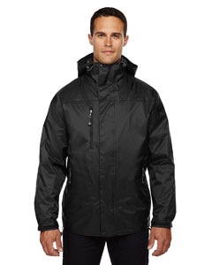 Black 703 Men's Performance 3-in-1 Seam-Sealed Hooded Jacket