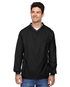 Black 703 Men's V-Neck Unlined Wind Shirt