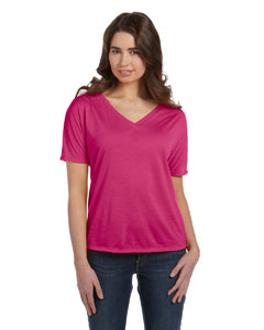 Berry Women's' Flowy Simple V-Neck T-Shirt