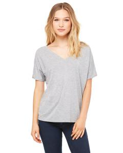 Athletic Heather Women's' Flowy Simple V-Neck T-Shirt