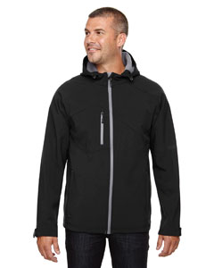 Black 703 Men's Prospect Two-Layer Fleece Bonded Soft Shell Hooded Jacket