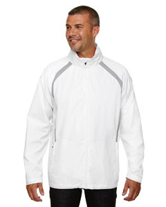 White 701 Men's Sirius Lightweight Jacket with Embossed Print