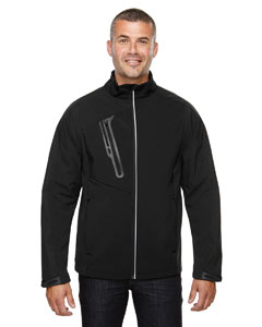 Black 703 Men's Terrain Colorblock Soft Shell with Embossed Print