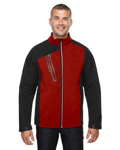 Classic Red 850 Men's Terrain Colorblock Soft Shell with Embossed Print