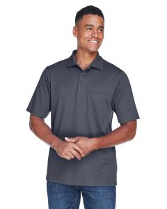 Carbon Men's Origin Performance Pique Polo with Pocket
