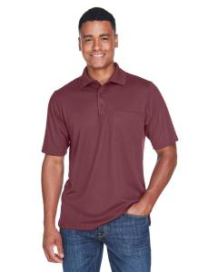 Burgundy Men's Origin Performance Pique Polo with Pocket
