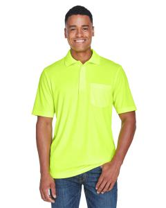 Safety Yellow Men's Origin Performance Pique Polo with Pocket