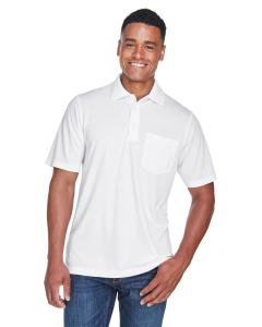 White Men's Origin Performance Pique Polo with Pocket