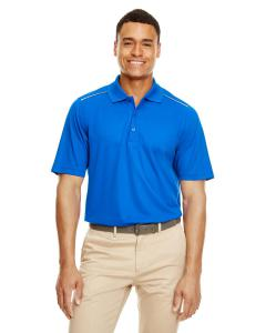 True Royal Men's Radiant Performance Piqu Polo withReflective Piping