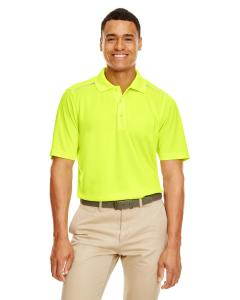 Safety Yellow Men's Radiant Performance Piqu Polo withReflective Piping