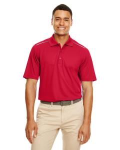Classic Red Men's Radiant Performance Piqu Polo withReflective Piping