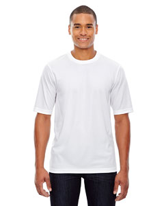 White 701 Men's Pace Performance Piqué Crew Neck