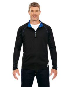 Blk/tru Royl 463 Men's Radar Half-Zip Performance Long-Sleeve Top