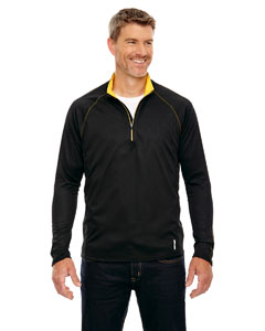 Blk/cmps Gld 464 Men's Radar Half-Zip Performance Long-Sleeve Top