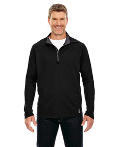 Black 703 Men's Radar Half-Zip Performance Long-Sleeve Top