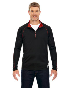 Blk/cl Red 874 Men's Radar Half-Zip Performance Long-Sleeve Top