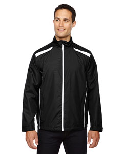 Black 703 Men's Tempo Lightweight Recycled Polyester Jacket with Embossed Print