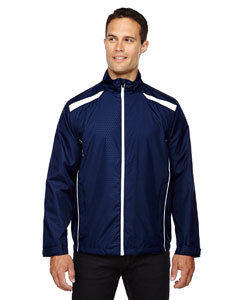 Classic Navy 849 Men's Tempo Lightweight Recycled Polyester Jacket with Embossed Print