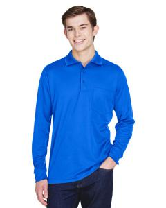 True Royal Adult Pinnacle Performance Long-Sleeve Pique Polo with Pocket