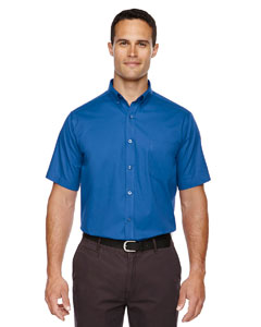 True Royal 438 Men's Optimum Short-Sleeve Twill Shirt