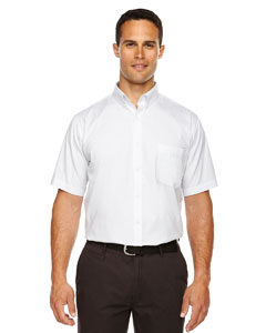 White 701 Men's Optimum Short-Sleeve Twill Shirt