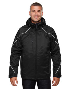 Black 703 Men's Tall Angle 3-in-1 Jacket with Bonded Fleece Liner