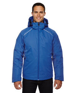 Nauticl Blue 413 Men's Linear Insulated Jacket with Print