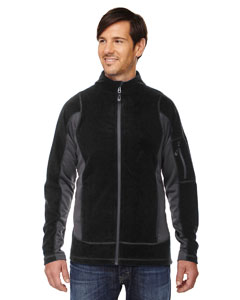 Black 703 Men's Generate Textured Fleece Jacket