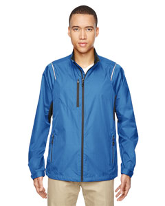 Nauticl Blue 413 Men's Sustain Lightweight Recycled Polyester Dobby Jacket with Print