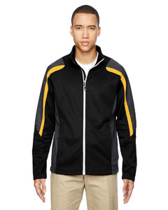 Blk/cmps Gld 464 Men's Strike Colorblock Fleece Jacket