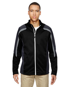 Black 703 Men's Strike Colorblock Fleece Jacket