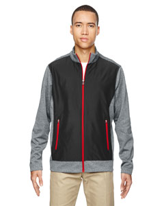 Blk/cl Red 874 Men's Victory Hybrid Performance Fleece Jacket