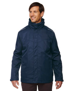 Classic Navy 849 Men's Tall Region 3-in-1 Jacket with Fleece Liner