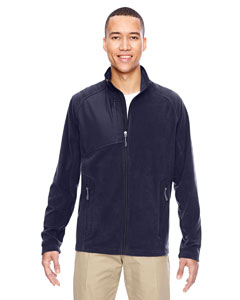 Navy 007 Men's Excursion Trail Fabric-Block Fleece Jacket