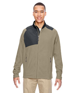 Stone 019 Men's Excursion Trail Fabric-Block Fleece Jacket