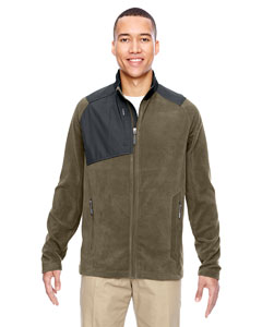 Dk Oakmoss 487 Men's Excursion Trail Fabric-Block Fleece Jacket