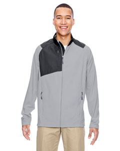 Silver 674 Men's Excursion Trail Fabric-Block Fleece Jacket