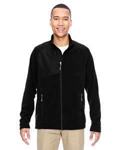 Black 703 Men's Excursion Trail Fabric-Block Fleece Jacket