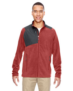 Rust 489 Men's Excursion Trail Fabric-Block Fleece Jacket