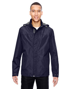 Navy 007 Men's Excursion Transcon Lightweight Jacket with Pattern