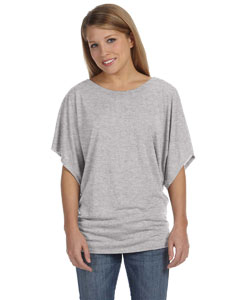Athletic Heather Ladies'  Flowy Draped Sleeve Dolman T-Shirt